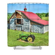 Hayesville Barn And Tractor Shower Curtain