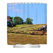 Haying The Field 1 Shower Curtain