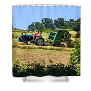Haying The Field 3 Shower Curtain