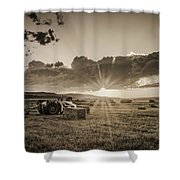 Haying Time Shower Curtain