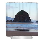 Haystack At Cannon Beach In June Shower Curtain