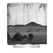 Haystack Mountain - Boulder County Colorado - Black And White Ev Shower Curtain
