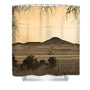 Haystack Mountain - Boulder County Colorado - Sepia Evening Shower Curtain
