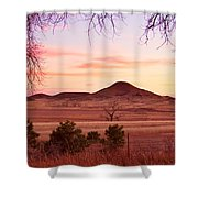 Haystack Mountain - Boulder County Colorado -  Sunset Evening Shower Curtain