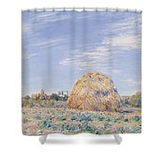 Haystack On The Banks Of The Loing Shower Curtain