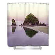 Haystack Rock 1 Shower Curtain