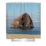 Haystack Rock - Pacific City Oregon Coast Shower Curtain