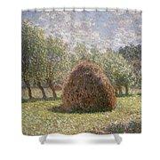 Haystacks At Giverny Shower Curtain