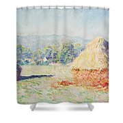 Haystacks In The Sun Shower Curtain