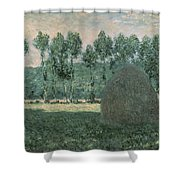 Haystacks Near Giverny Shower Curtain