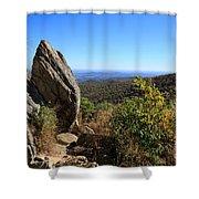 Hazel Mountain Overlook On Skyline Drive In Shenandoah National Park Shower Curtain