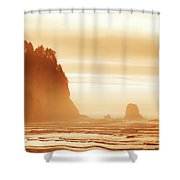 Hazy Beach  Shower Curtain