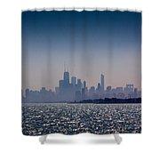 Hazy Chicago Shower Curtain