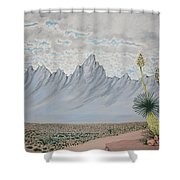 Hazy Desert Day Shower Curtain