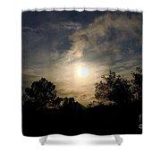 Hazy Evening Sun Shower Curtain