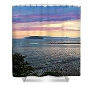 Hazy Evening Sunset Shower Curtain