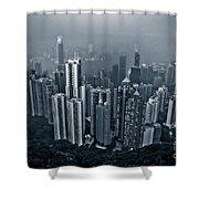 Hazy Hong Kong Shower Curtain