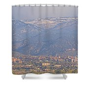 Hazy Low Cloud Morning Boulder Colorado University Scenic View  Shower Curtain by James BO  Insogna
