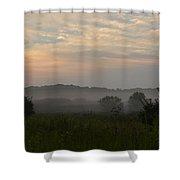 Hazy Morning Shower Curtain