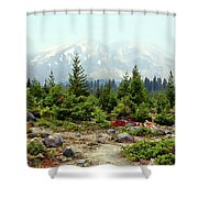 Hazy Mt. St. Helens Shower Curtain