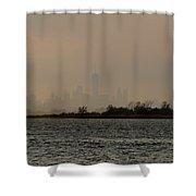 Hazy New York Shower Curtain