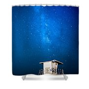 Hb Galaxy Shower Curtain