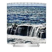 hd 347 The Rock hdr Shower Curtain