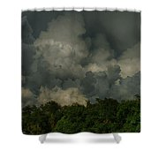 Hdr Clouds Shower Curtain