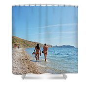She And He Shower Curtain