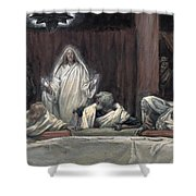 He Appeared To The Eleven Shower Curtain by Tissot