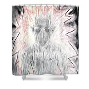He Flame Shower Curtain