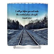 He Goes Before Us Shower Curtain