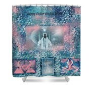 He Has Resin Happy Easter Shower Curtain