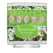 He Is Risen Spanish Shower Curtain