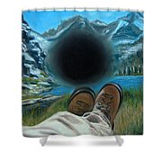 He Lost His Perspective Shower Curtain