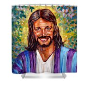 He Smiles Shower Curtain