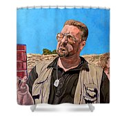 He Was One Of Us Shower Curtain by Tom Roderick