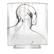 Head, Back View Shower Curtain