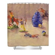 Head 'em Off At The Pass Shower Curtain