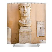 Head From The Statue Of Constantine, Rome, Italy Shower Curtain