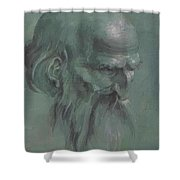 Head Of A Apostle Shower Curtain