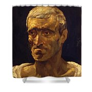 Head Of A Shipwrecked Man Study For The Raft Of Medusa 1819 Shower Curtain