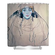 Head Of A Woman Shower Curtain
