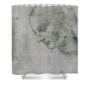 Head Of A Young Woman Or Head Of The Virgin Shower Curtain