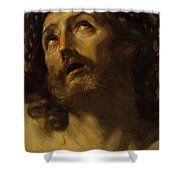 Head Of Christ Crowned With Thorns 1620 Shower Curtain