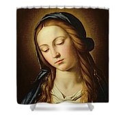 Head Of The Madonna Shower Curtain