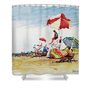Head  Of The Meadow Beach, Afternoon Shower Curtain