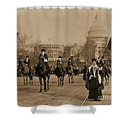 Head Of Washington D.c. Suffrage Parade Shower Curtain