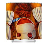 Head-over-heels Shower Curtain