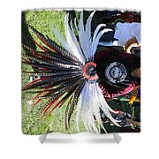 Head Piece Dancer Day Of The Dead  Shower Curtain